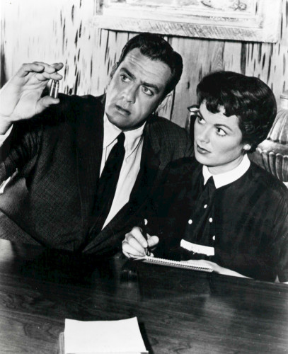photo of Perry Mason & Della Street from 1958