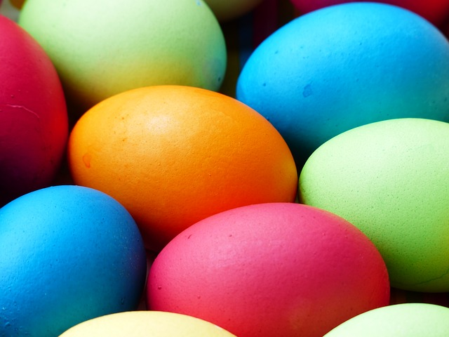 photo of a bunch of colored easter eggs