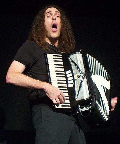 photo of Weird Al Yankovic with his accordion