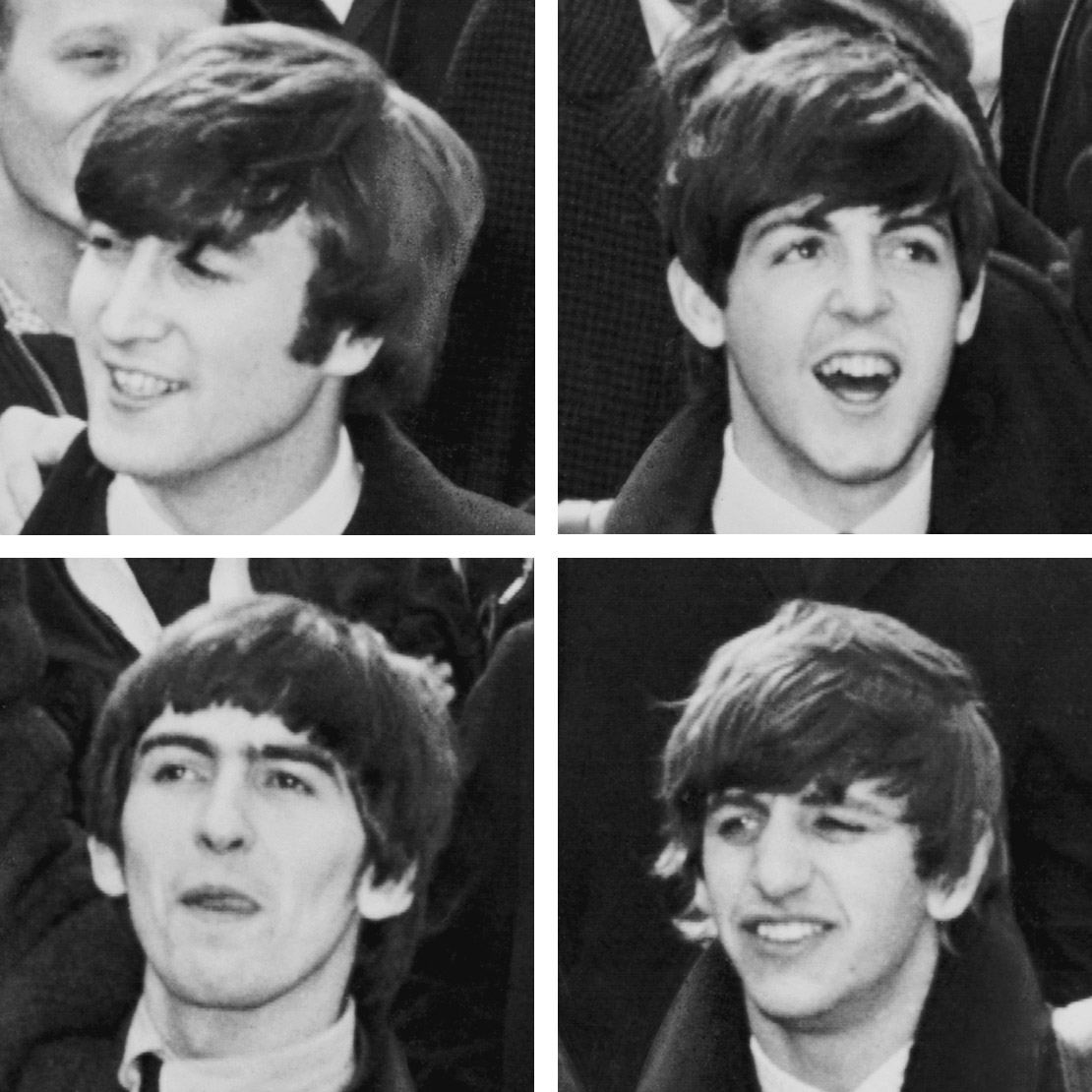 photo of The Beatles as they appeard in 1964.